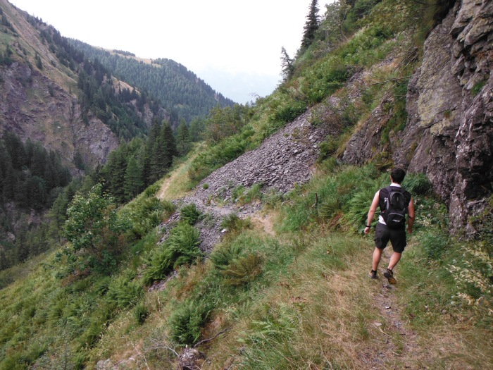 In Austria, scendendo da P.sso Pramosio