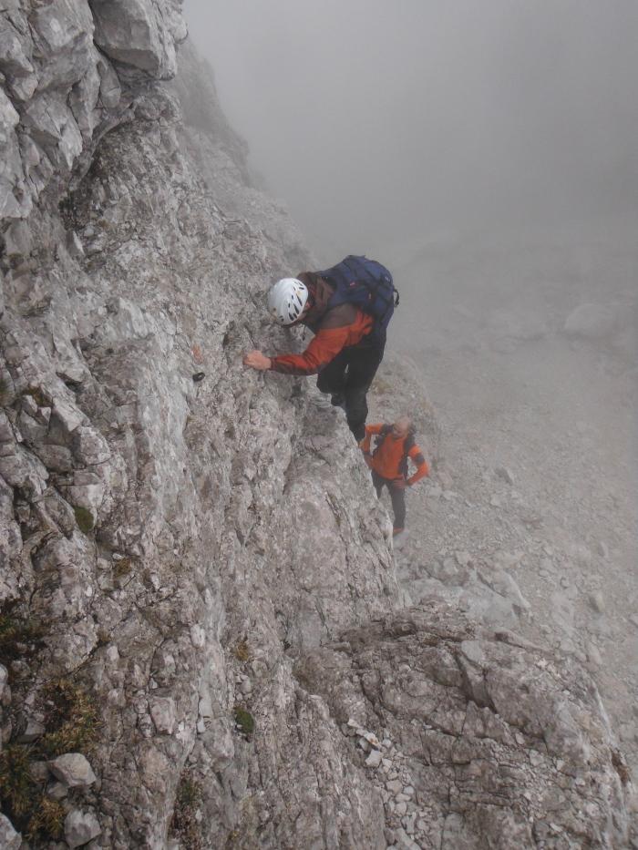 Il pass di II° subito sopra al Portonat