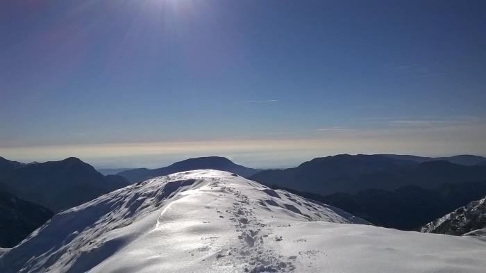 Sulla cima del Lovinzola