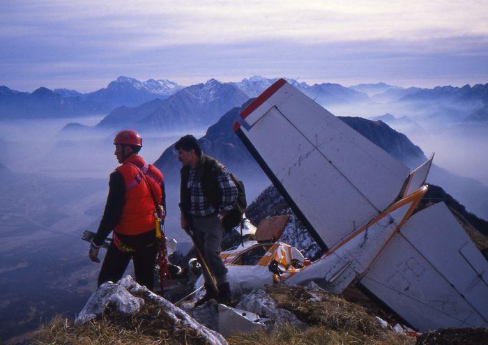 Attimi del soccorso nel 93 - Foto A. Cella